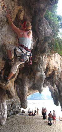 Lisa Ferazza Climbing in Thailand