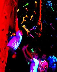 Blacklight Bouldering